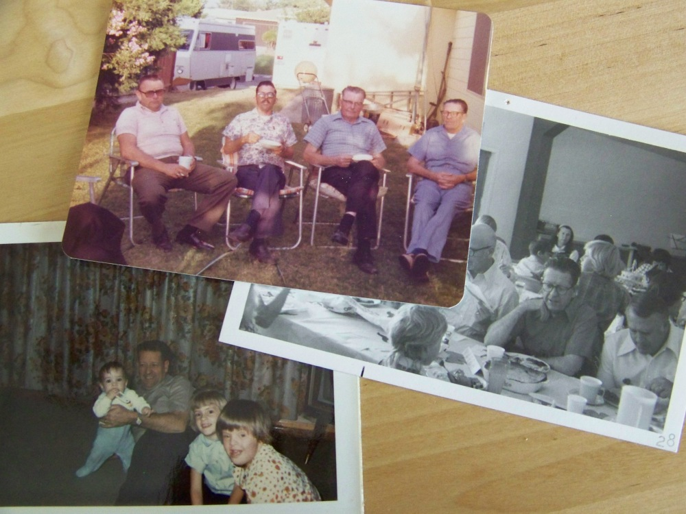 Several old photos of Dad